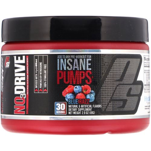 ProSupps, NO3Drive, Nitric Oxide Amplifier, Blue Razz, 2.9 oz (81 g) Review