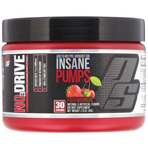ProSupps, NO3Drive, Nitric Oxide Amplifier, Fruit Punch, 2.9 oz (81 g) Review