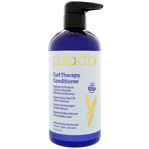 Pura D'or, Curl Therapy Conditioner, 16 fl oz (473 ml) Review
