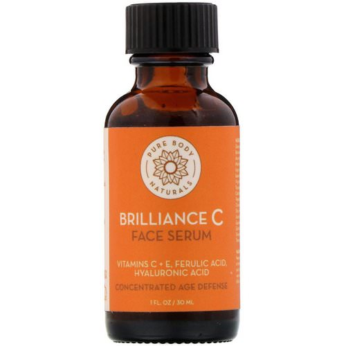 Pure Body Naturals, Brilliance C Face Serum, 1 fl oz (30 ml) Review