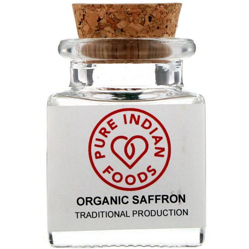 Pure Indian Foods, Organic Saffron, 1 g Review