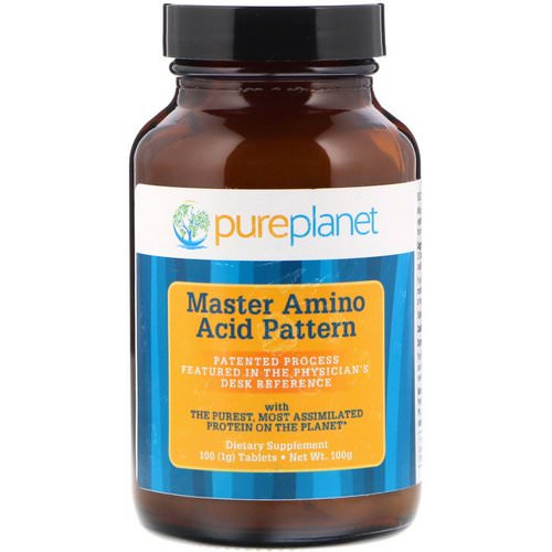 Pure Planet, Master Amino Acid Pattern, 1000 mg, 100 Tablets Review