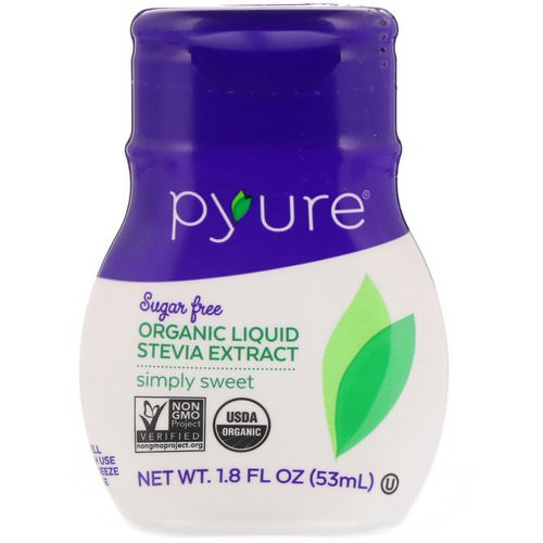 Pyure, Organic Liquid Stevia Extract, Simply Sweet, 1.8 fl oz (53 ml) Review