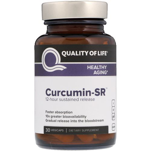Quality of Life Labs, Curcumin-SR, 30 Vegicaps Review