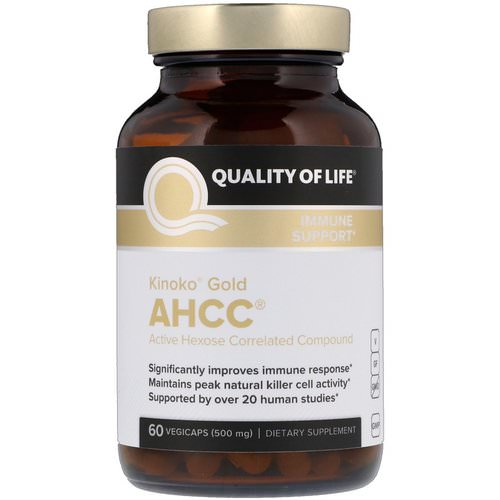 Quality of Life Labs, Kinoko Gold AHCC, Immune Support, 500 mg, 60 Vegicaps Review