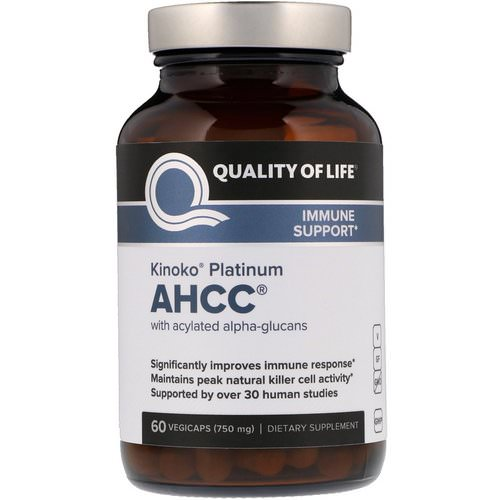 Quality of Life Labs, Kinoko Platinum AHCC, 750 mg, 60 Vegicaps Review