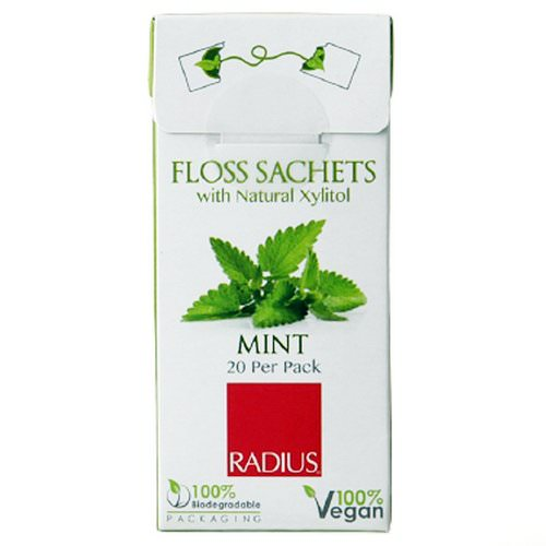 RADIUS, Vegan Xylitol Mint Floss Sachet, 20 Pack Review