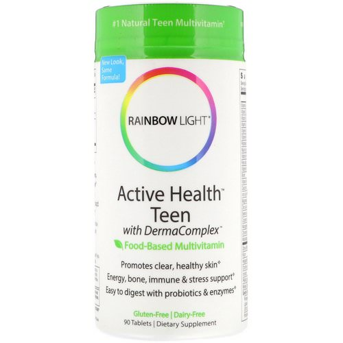 Rainbow Light, Active Health Teen with Derma Complex, Food-Based Multivitamin, 90 Tablets Review