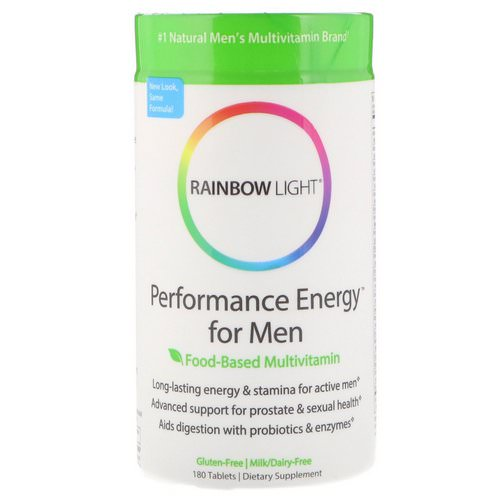 Rainbow Light, Performance Energy for Men, Food-Based Multivitamin, 180 Tablets Review