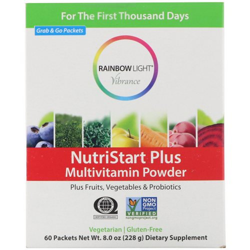 Rainbow Light, Vibrance, Nutristart Plus, Multivitamin Powder, 60 Packets, 3.8 g Each Review