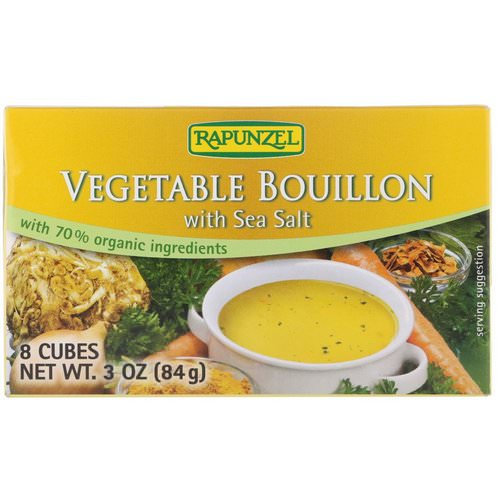 Rapunzel, Vegetable Bouillon with Sea Salt, 8 Cubes, 3 oz (84 g) Review