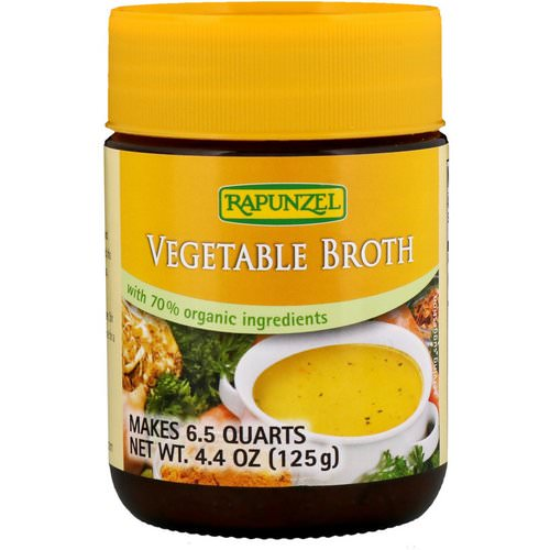 Rapunzel, Vegetable Broth, 4.4 oz (125 g) Review