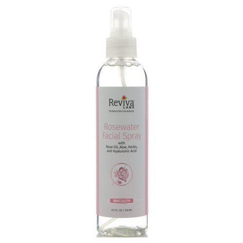 Reviva Labs, Rosewater Facial Spray, 8 oz (236 ml) Review