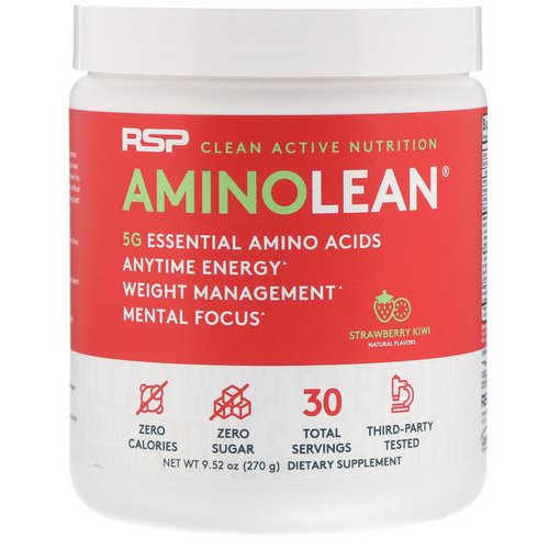 RSP Nutrition, AminoLean, Strawberry Kiwi, 9.52 oz (270 g) Review