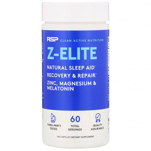 RSP Nutrition, Z-Elite, Recovery & Sleep Support, 180 Capsules Review