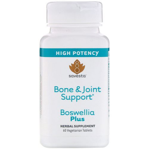 Savesta, Bone & Joint Support, Boswellia Plus, 60 Vegetarian Tablets Review