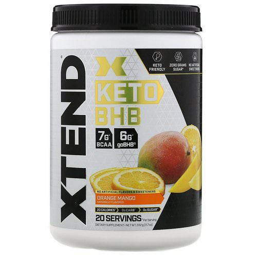 Scivation, Xtend, Keto BHB, Orange Mango, 11.7 oz (332 g) Review