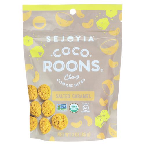Sejoyia, Coco-Roons, Chewy Cookie Bites, Salted Caramel, 3 oz (85 g) Review