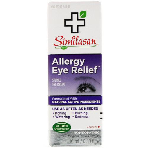 Similasan, Allergy Eye Relief, Sterile Eye Drops, 0.33 fl oz (10 ml) Review
