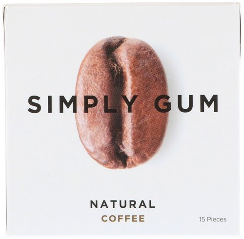 Simply Gum, Gum, Natural Coffee, 15 Pieces Review