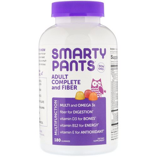 SmartyPants, Adult Complete and Fiber, 180 Gummies Review