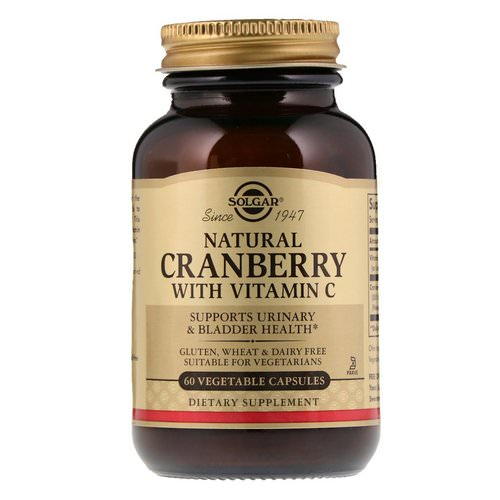 Solgar, Natural Cranberry with Vitamin C, 60 Vegetable Capsules Review