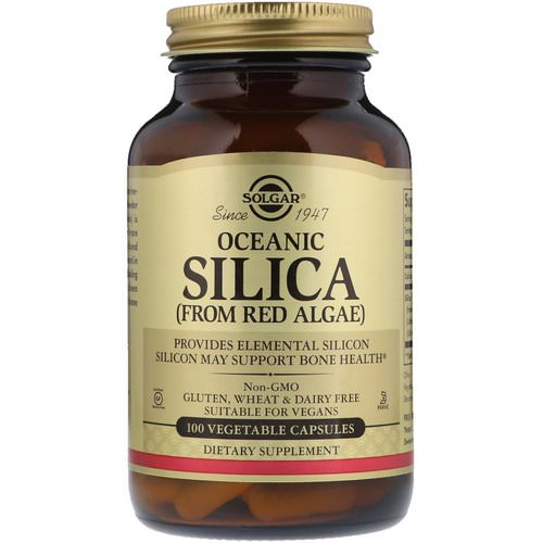 Solgar, Oceanic Silica From Red Algae, 100 Vegetable Capsules Review