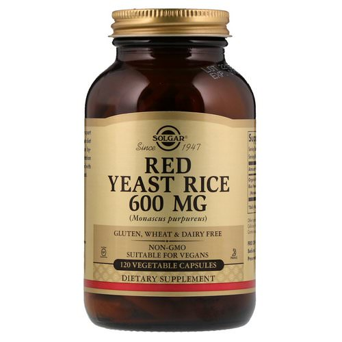 Solgar, Red Yeast Rice, 600 mg, 120 Vegetable Capsules Review