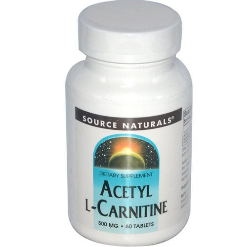Source Naturals, Acetyl L-Carnitine, 500 mg, 60 Tablets Review