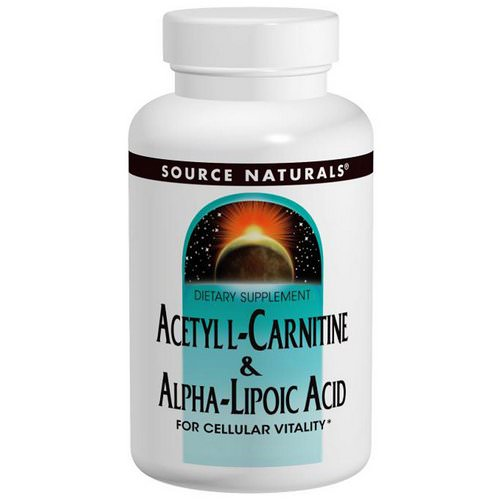Source Naturals, Acetyl L-Carnitine & Alpha Lipoic Acid, 650 mg, 60 Tablets Review