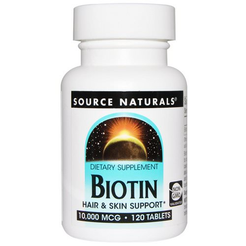 Source Naturals, Biotin, 10,000 mcg, 120 Tablets Review