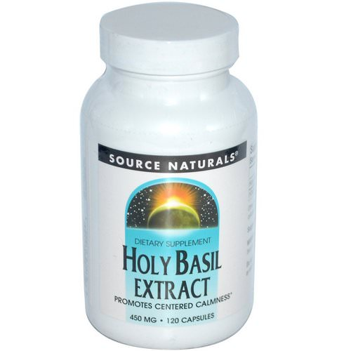 Source Naturals, Holy Basil Extract, 450 mg, 120 Capsules Review