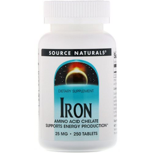 Source Naturals, Iron, 25 mg, 250 Tablets Review