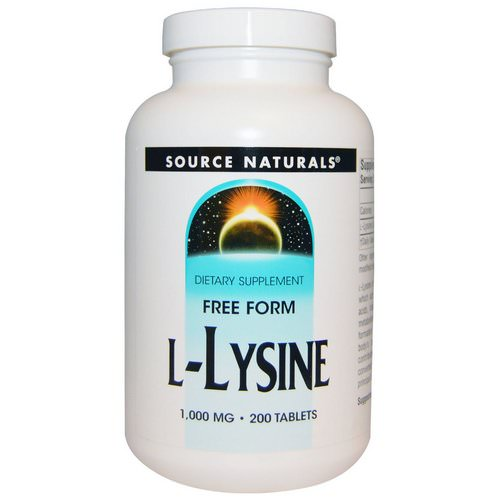 Source Naturals, L-Lysine, 1,000 mg, 200 Tablets Review