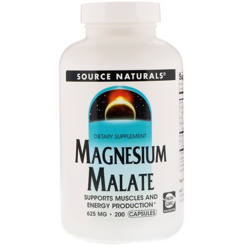 Source Naturals, Magnesium Malate, 625 mg, 200 Capsules Review
