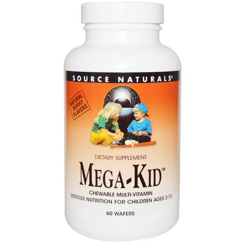 Source Naturals, Mega-Kid, Chewable Multi-Vitamin, Natural Berry Flavors, 60 Wafers Review