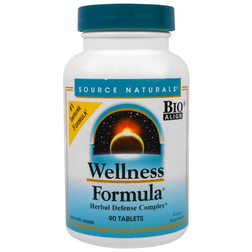 Source Naturals, Wellness Formula, Herbal Defense Complex, 90 Tablets Review