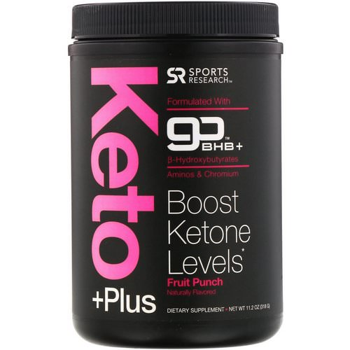 Sports Research, Keto Plus, GO BHB +, Fruit Punch, 11.2 oz (318 g) Review