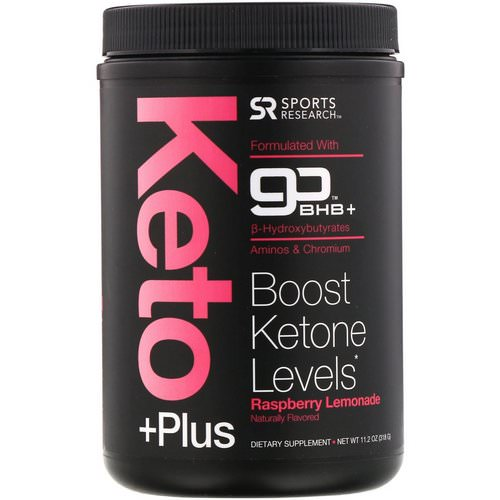 Sports Research, Keto Plus, GO BHB +, Raspberry Lemonade, 11.2 oz (318 g) Review