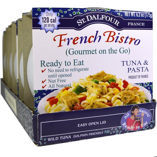 St. Dalfour, French Bistro, Gourmet on the Go, Tuna & Pasta, 6 Pack, 6.2 oz (175 g) Each Review