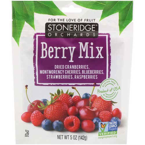 Stoneridge Orchards, Berry Mix, Whole Dried Mixed Berries, 5 oz (142 g) Review