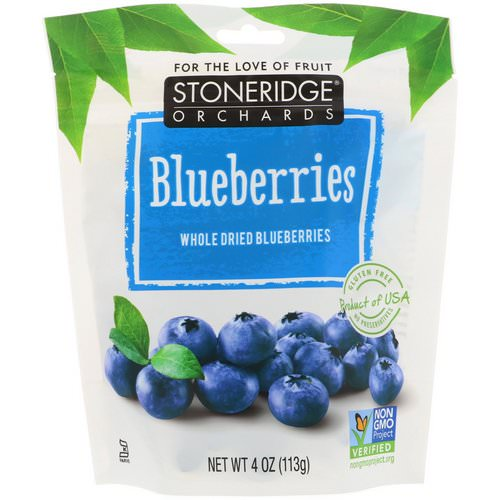 Stoneridge Orchards, Blueberries, Whole Dried Blueberries, 4 oz (113 g) Review