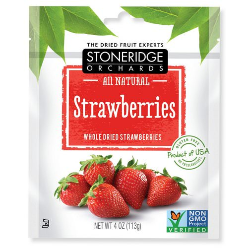 Stoneridge Orchards, Strawberries, Whole Dried Strawberries, 4 oz (113 g) Review