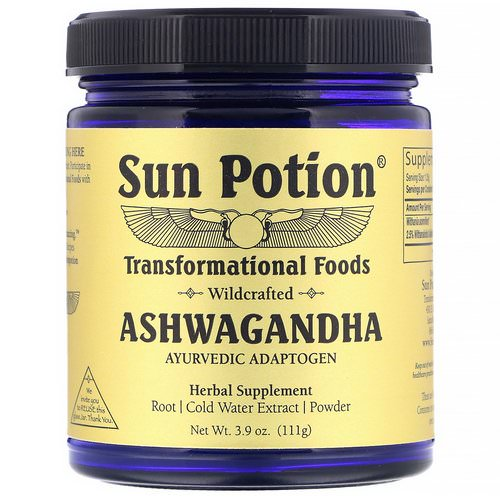 Sun Potion, Ashwagandha Powder, Wildcrafted, 3.9 oz (111 g) Review