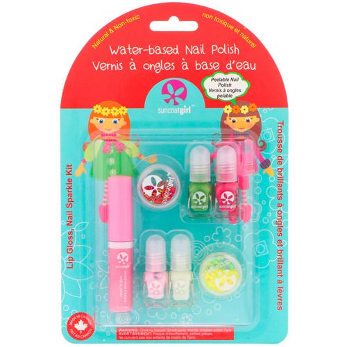SuncoatGirl, Lip Gloss, Nail Sparkle Kit, 7 Piece Set Review