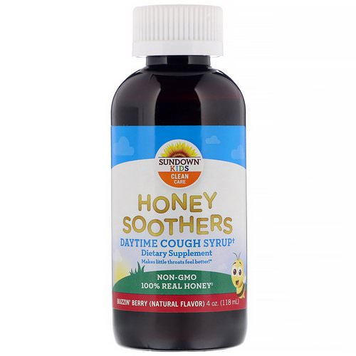 Sundown Naturals Kids, Honey Soothers, Daytime Cough Syrup, Buzzin' Berry, 4 oz (118 ml) Review