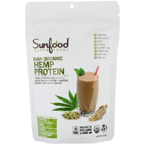 Sunfood, Raw Organic Hemp Protein, 8 oz (227 g) Review