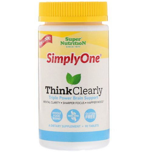 Super Nutrition, SimplyOne, Think Clearly, Triple Power Brain Support, 90 Tablets Review