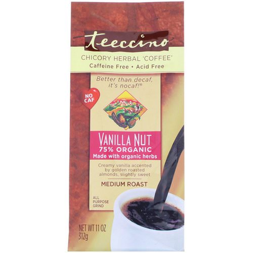 Teeccino, Chicory Herbal Coffee, Medium Roast, Caffeine Free, Vanilla Nut, 11 oz (312 g) Review