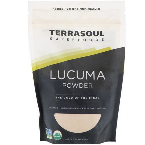 Terrasoul Superfoods, Lucuma Powder, The Gold Of The Incas, 16 oz (454 g) Review